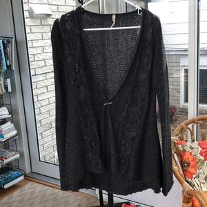Cardigan with lace embellishments. Size small!